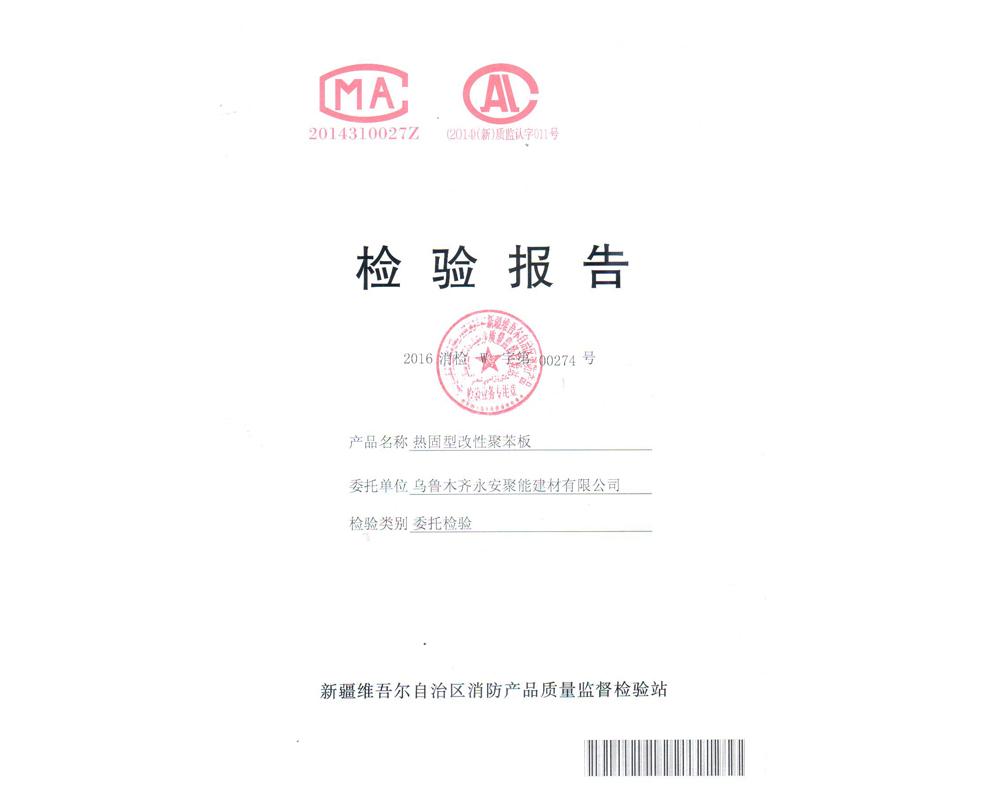 热固型改性聚苯板检验报告